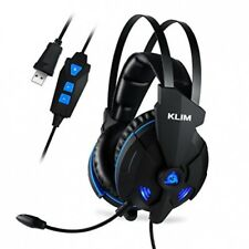 Klim Impact Gaming Headset and Microphone USB 7.1 Surround Sound (Blue)