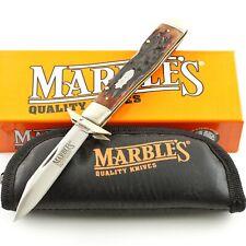 Marbles Stag Bone Handle Folding Guard Lockback Pocket Knife MR109