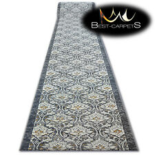 Hall Runner SOFT VISKAN granite Width 80-100 cm FLOWERS extra long RUGS AGNELLA