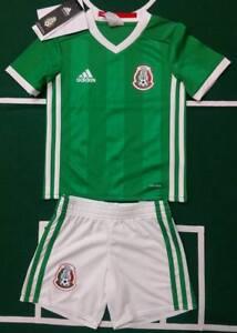 ADIDAS SELECCION MEXICANA MINIKIT JERSEY AND SHORT BABY KIDS LOCAL HOME ORIGINAL