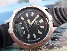 Sporty Citizen Alarm Chronograph 44 mm Mens Black Dial Quartz