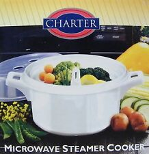 Charter Plastic Microwave Steamer Vegetable Cooker Bowl **NEW**