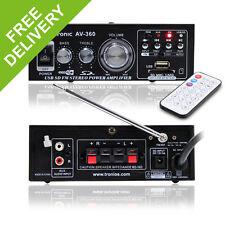 Skytronic AV-360 MP3 USB SD FM Amplifier - Remote Control Hi-Fi Stereo