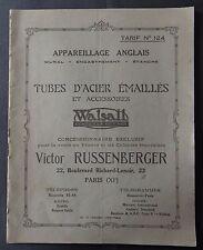 Catalogue c 1910 RUSSENBERGER WALLSALL interrupteur mutlibox switches PARIS