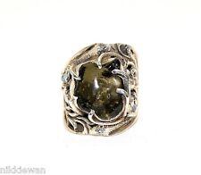 Moldavite & White Labradorite Ring Jewellery - Sterling Silver