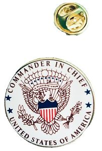 🇺🇸 Collecable Lapel Badge Pin _ Commander In Chief _ United States of America