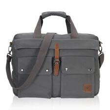 "Hynes Eagle 17 Inch Briefcase Mens Work Satchel Messenger Bag for 15.6"" Laptop"