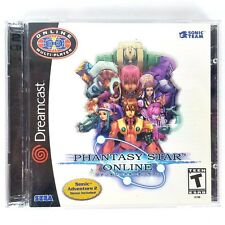 Phantasy Star Online (Sega Dreamcast, 2001) Complete w/ Sonic Adventure 2 Trial