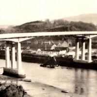 Vintage 1930s RPPC The New Bridge Briton Ferry Neath Postcard United Kingdom UK