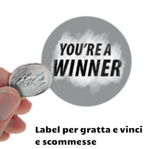 Scratch Off Stickers adesivi argento pellicola per creare gratta e vinci graffia