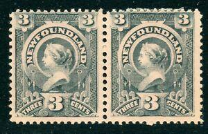 Weeda Newfoundland 60i Fine unused pair on red tinted paper CV $70