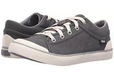 Teva Women's Freewheel Washed Canvas Sneaker Black Grey Size 9.5