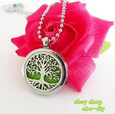 1Set Plain tree of life Essential oil Diffuser Locket Necklace Free Shipping