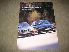 BMW 3er 325td E36 + 5er 525td 525tds E34 Turbodiesel Prospekt Brochure v. 1/1993
