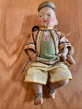 "8"" Incredible Rare Antique Asian Petitcolin All Celluloid Thai Prince Doll"