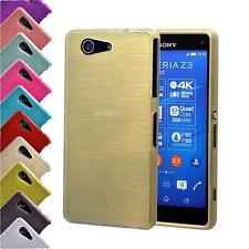 Schutzhülle Handyhülle Sony Xperia Z3 Compact Silikon TPU Tasche Case Cover Gold