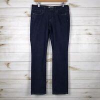 Banana Republic Dark Wash Straight Leg Mid Rise Jeans, Petite Size 6/28