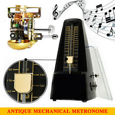 Black Traditional Wind Up Mechanical Metronome Tempo for Piano Guitar Violin AU