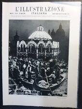 ILLUSTRAZIONE ITALIANA - N 30/1925 - VENEZIA - NOTTE DEL REDENTORE