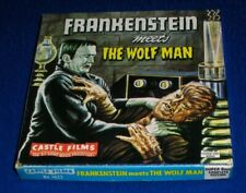FRANKENSTEIN MEETS THE WOLF MAN Super 8mm Castle Films #1022 Sci-Fi Art Lid