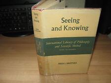 Fred Dretske - Seeing & Knowing 1969 UK 1st HB/DJ Philosopy Mind US philosopher