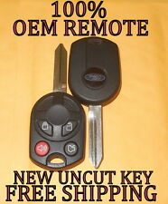 100% OEM FORD 40 BIT KEYLESS ENTRY REMOTE HEAD MASTER KEY FOB COMBO 164-R7013