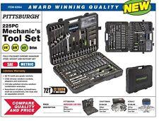 Mechanic's Tool Set 225 Pc Pittsburgh Pro Blow W/ Storage case New SAE & Metric