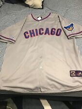 Ernie Banks Chicago Cubs 1968 Majestic Cooperstown Away Baseball Jersey