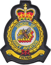 School of Army Aviation British Army Air Corps AAC Crest MOD Embroidered Patch *