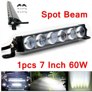 7 Inch Slim 4D Lens LED Work Light Bar Spot Beam Offroad Fog Driving 4WD 4x4