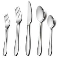 Silverware Set, HaWare 30-Piece Flatware Set, Stainless Steel Cutlery Set,