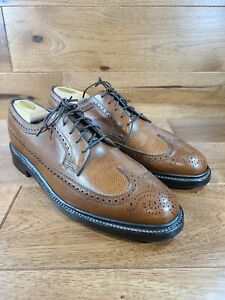 Vintage Florsheim Brown Leather Royal Imperial Longwing Derby 97625 Size 10.5 D