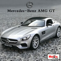 Mercedes-Benz AMG GT Sports Car Diecast Alloy Model Collection in 1:18 Silver
