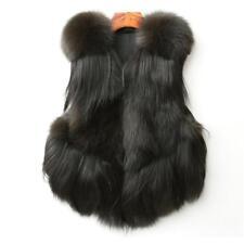 Luxurious Waistcoat Genuine Real Vulpes Fox Fur Coat Vest Lovely Gilet Tassels
