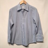 Brooks Brothers Blue Checkered Button Down Sz 12