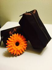 Nwot Brown Laura Mercier Set 2 Cosmetic Bag
