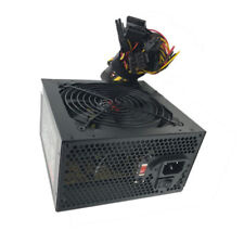 "600 Watt 600W 120mm 4.72"" Quiet Fan ATX Power Supply Black SATA PCIE PC Upgrade"