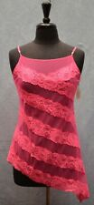 NWT Auth VICTORIA'S SECRET Pink Asymmetric Stripes Sexy Lace Gown Size S $ 58