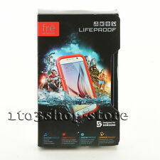 LifeProof fre Waterproof Dust Proof Hard Shell Case for Samsung Galaxy S6 Red
