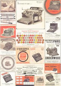 Geschenkpapier Bogen Schreibmaschinen  / G2