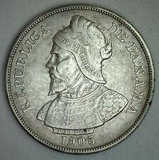 1905 Panama 50 Centesimos World Coin Silver You Grade It KM5 YG 50 Cents