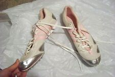 womens adidas tech star cosmos white pink & silver mesh track shoes size 11