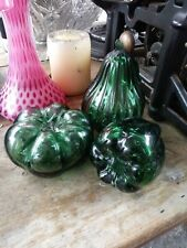 3 Empoli 1950s Glass Tomato Pear Pepper Fruit italy