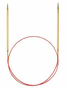 addi Lace Gold Tip Fixed Circular Knitting Needles  40cm (16in)