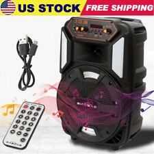 """8"""" Bluetooth Party Speaker FM Karaoke Stereo Tailgate Multimedia Speaker 1000W"""