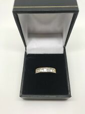 Zirconia Ring Size M 9ct Yellow Gold Cubic