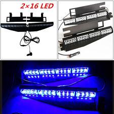 32LED DC 12V Car Police Emergency Traffic Advisor Strobe Blue LED Lights Bar Top