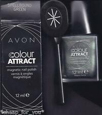 *~AVON~*COLOUR ATTRACT MAGNETIC NAIL ENAMEL**SPELLBOUND GREEN & STAR MAGNET**NEW