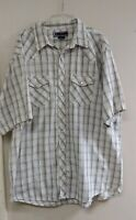 Vintage Williams Bay Men's 3XT Tall Flannel Pearl Snap Shirt short sleeve Shirt
