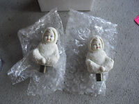 Unique Lot of 2 Snowbabies Figurines with Screw Bottoms LOOK